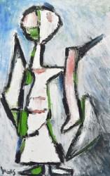 Oswaldo Vigas: La Dama de Bagdad II - Pintura