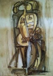 oswaldo-vigas-mujer-sentada-hojas